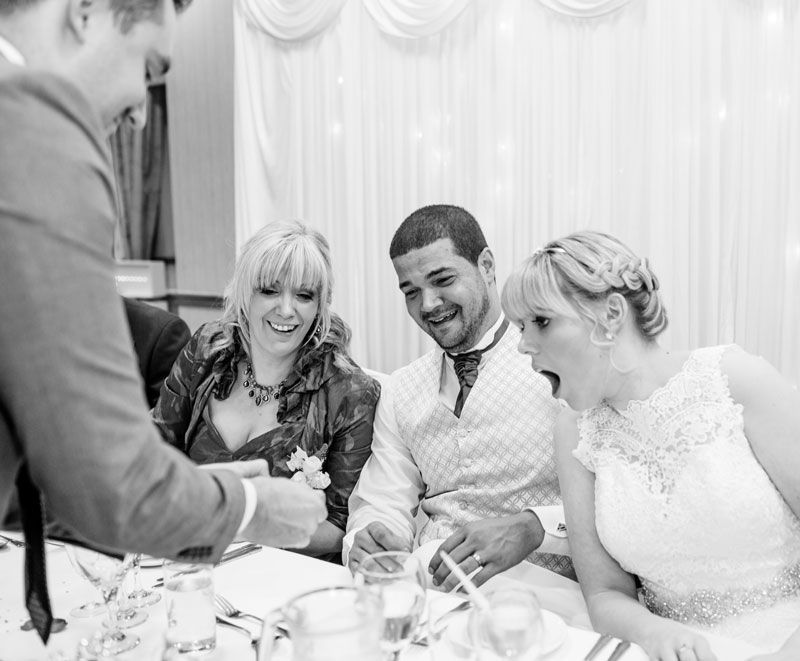 The Bride and Groom with The Mystery Guest - Stephen Seabourne the Birmingham Wedding Magician
